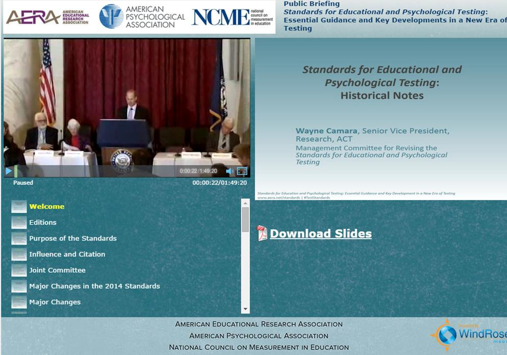 Standards for educational psychological testing 2014 edition watch the webcast fandeluxe Images